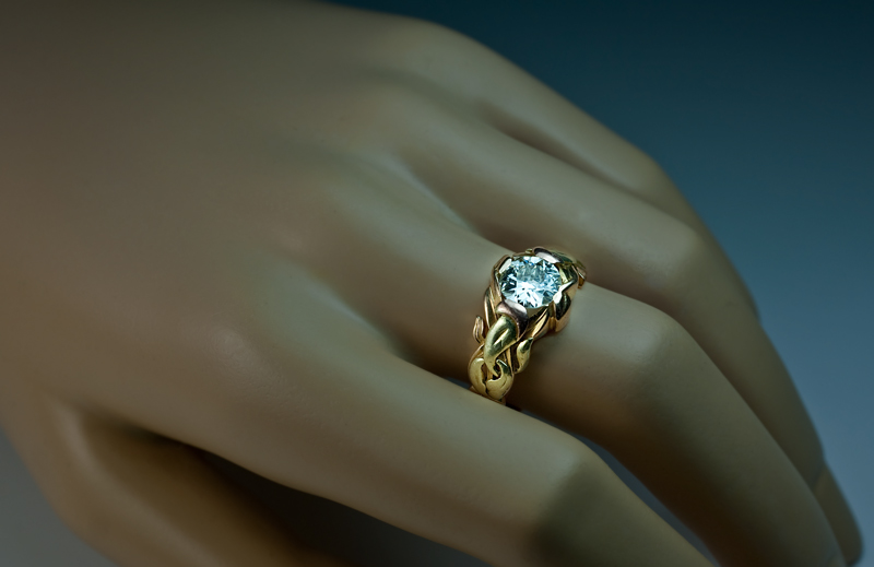 ART NOUVEAU Antique Diamond Men s Ring