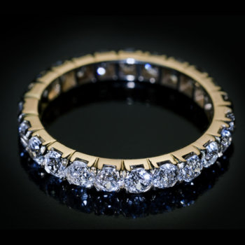 antique diamond eternity ring