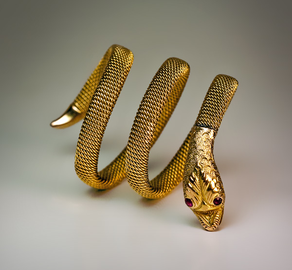 Antique Gold Snake Ring C 1900 Antique Jewelry