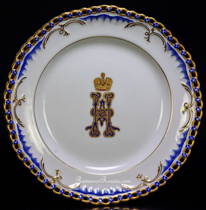 An Antique Imperial Russian Porcelain Plate from the Private Service of Czar Nicholas II  sc 1 st  RomanovRussia & Tsar Nicholas II Private Service Antique Porcelain Plate 1899 ...