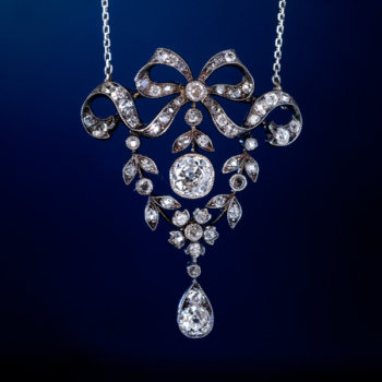 Belle Epoque jewelry - antique diamond necklace