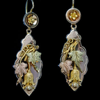 Victorian antique gold earrings