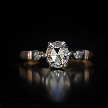old rose cut diamond engagement ring