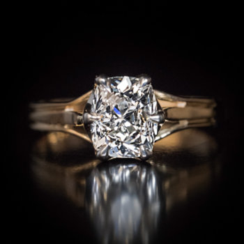 1.28 ct old cushion cut diamond engagement ring