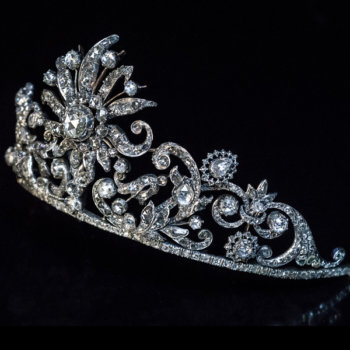 antique diamond diadem tiara