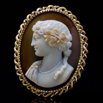 antique sardonyx cameo