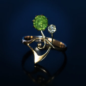 Art Nouveau jewelry - Russian demantoid ring