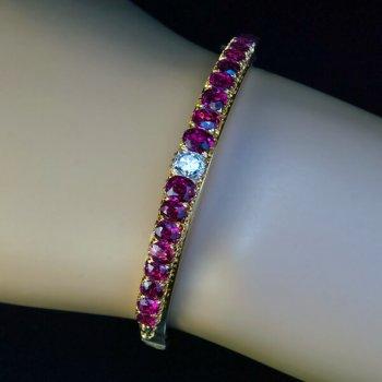 Antique ruby and diamond bracelet