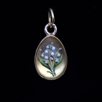 Lilly of the valley egg pendant