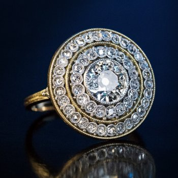 Antique Belle Epoque diamond engagement ring
