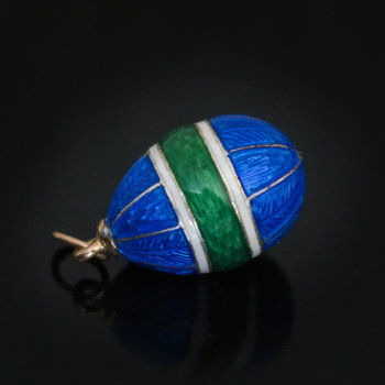 antique guilloche enamel egg
