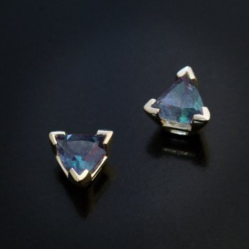 Russian alexandrite earrings