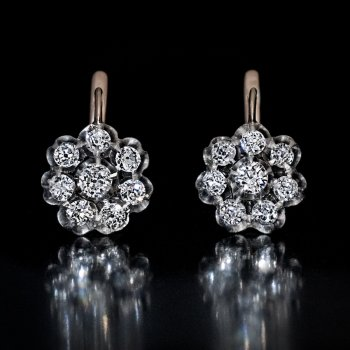 old mine cut diamond earrings