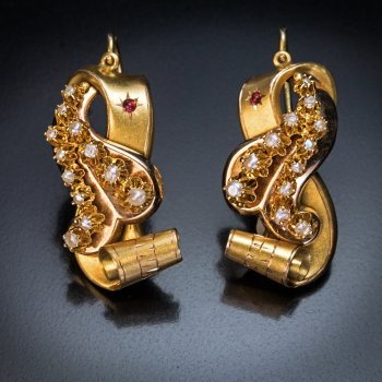 antique Victorian gold earrings