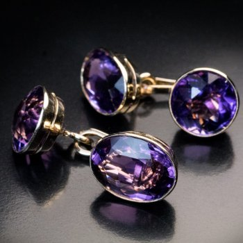 antique amethyst cufflinks