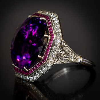 antique Siberian amethyst ring