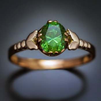 1.27 ct Russian demantoid ring