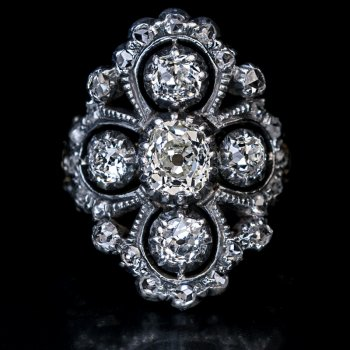 Antique late Georgian - early Victorian diamond ring