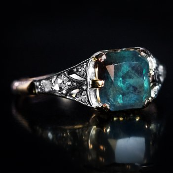 very rare 2.07 ct Russian Alexandrite ring