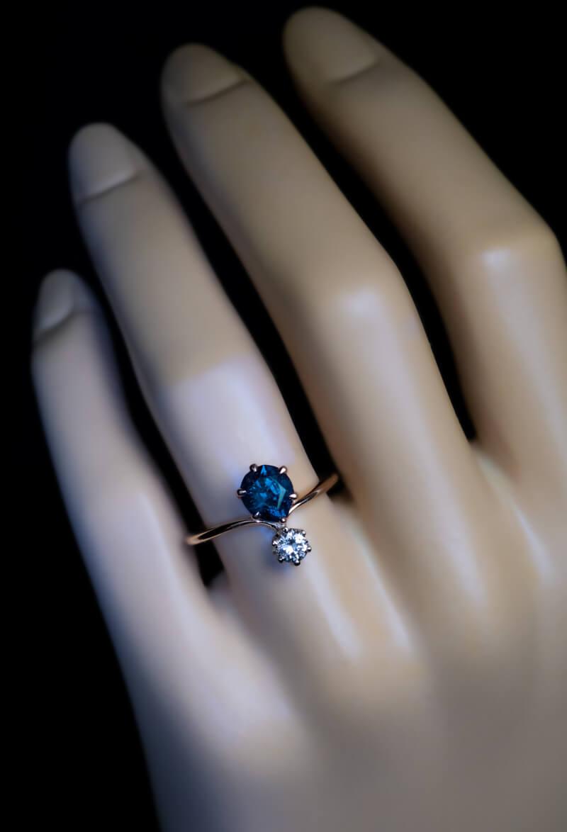 Very Rare 1 34 Ct Russian Alexandrite Diamond Engagement