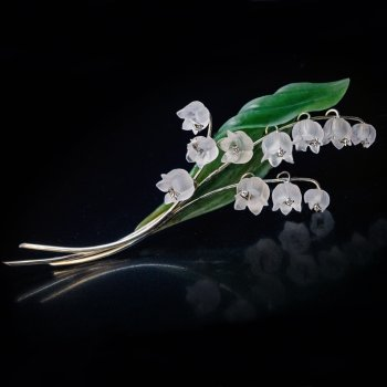 lilly of the valley vintage brooch pin