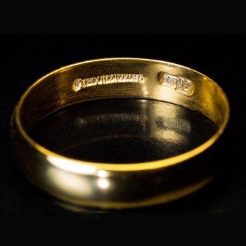 antique 23Kt gold wedding ring
