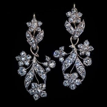 19th century antique day - night earrings Victorian jewelry