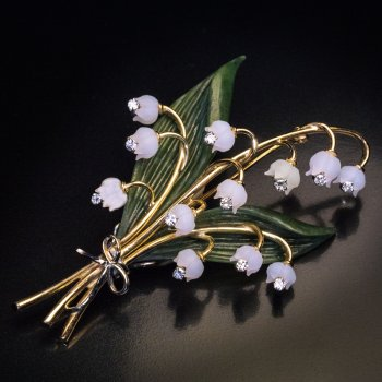 lilly of the valley brooch pin