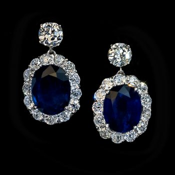 vintage sapphire diamond earrings