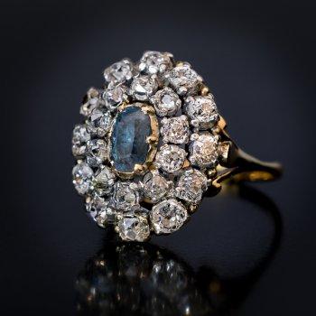 antique alexandrite and diamond ring