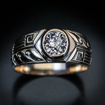 antique men's diamond ring