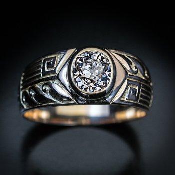 antique men's diamond ring