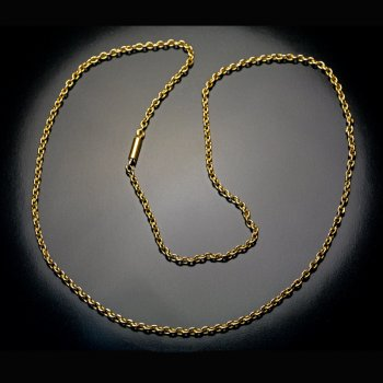 antique gold link chain necklace