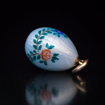 antique enamel egg pendant