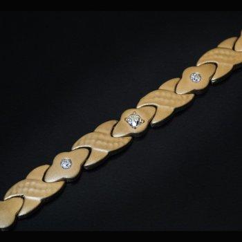 antique diamond gold link bracelet