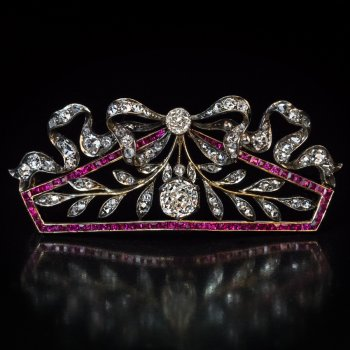 Belle Epoque jewelry - antique diamond brooch