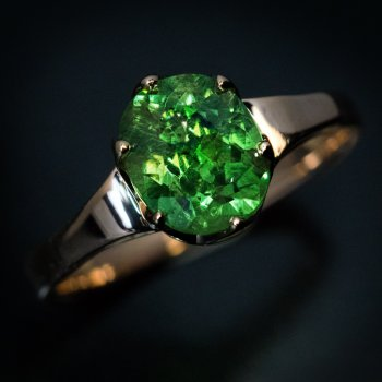 Russian demantoid ring
