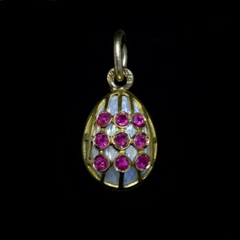 Russian antique egg pendant