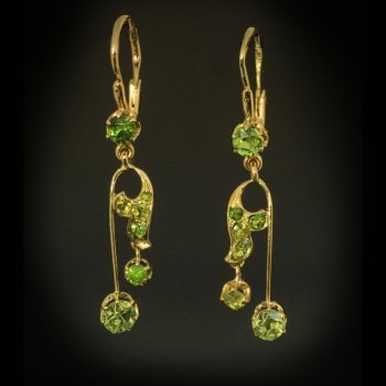 Art Nouveau demantoid earrings