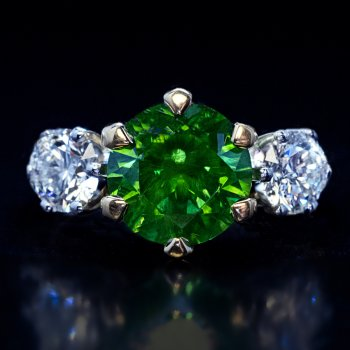 3.51 ct Russian demantoid ring