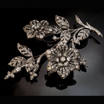 Large antique diamond brooch