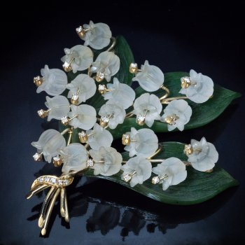 Lily of the valley vintage brooch pin