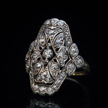 Victorian 19th century antique diamond ring