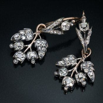 Antique Day to Night diamond earrings