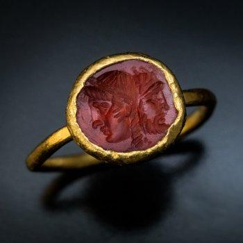 Ancient Roman carnelian intaglio