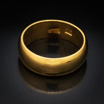 antique Russian high karat gold wedding ring