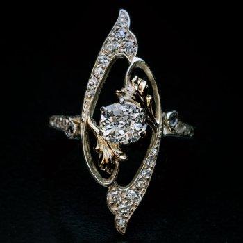 Art Nouveau antique diamond ring
