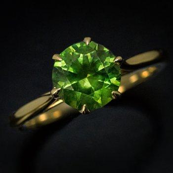 Russian 1.91 ct demantoid ring