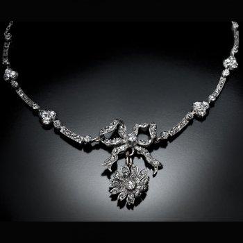 Belle Epoque jewelry for sale - antique diamond necklace