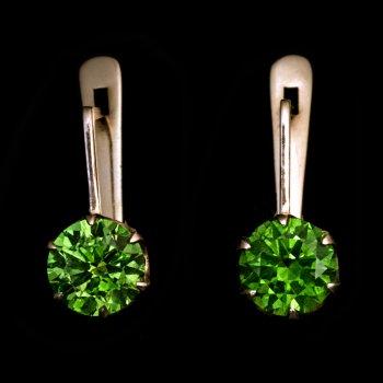 Russian demantoid earrings